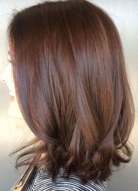 rich, dimensional and shiny brunette shade