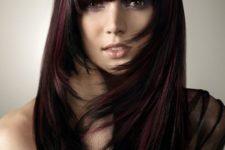 11 black and black cherry hair mixed