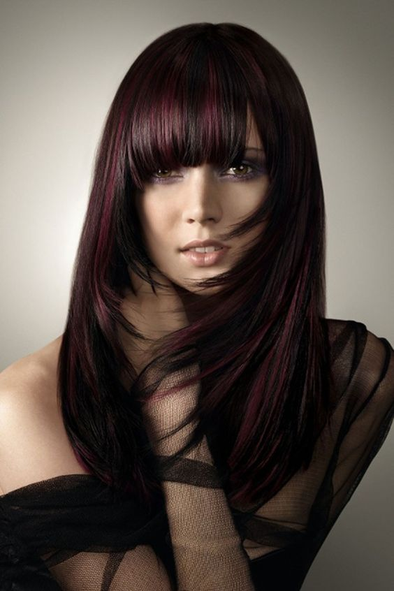 black and black cherry hair mixed