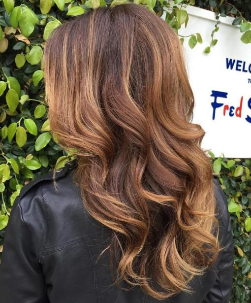 brown hair with caramel balayage is super hot and trendy now