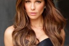 11 brown hair with chestnut lowlights for a chic look