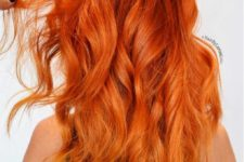 11 fiery copper curly hair