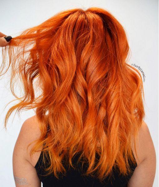 fiery copper curly hair