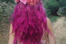 11 magenta curly hair