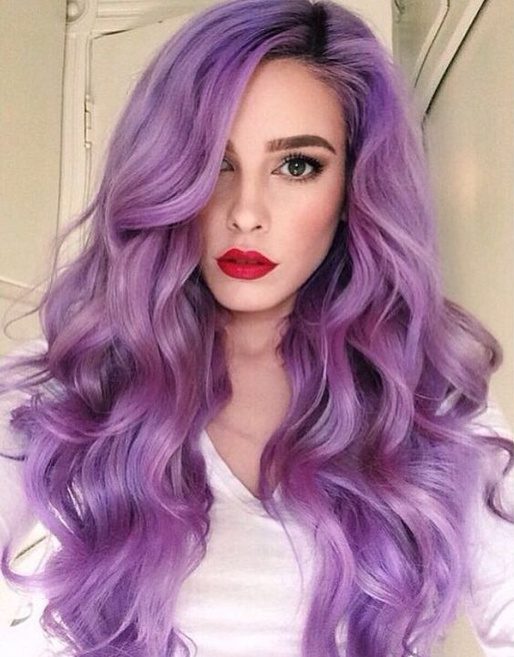pastel purple hair for romantic girls
