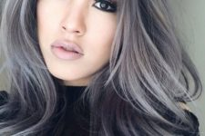 12 balayage grey hair in various shades