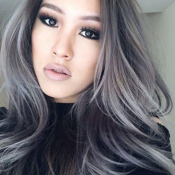 balayage grey hair in various shades