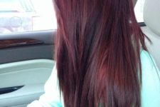 12 black cherry hair with black lowlights