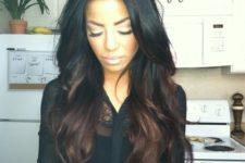 12 black hair with reddish brown highlights