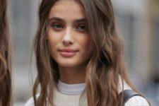 12 brown hair with a perfect hair texture