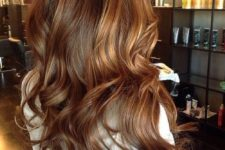 12 brown hair with dark caramel highlights