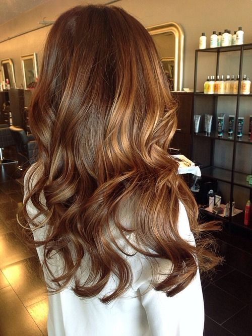 Picture Of Brown Hair With Dark Caramel Highlights