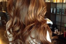 12 brown hair with honey and chestnut balayage