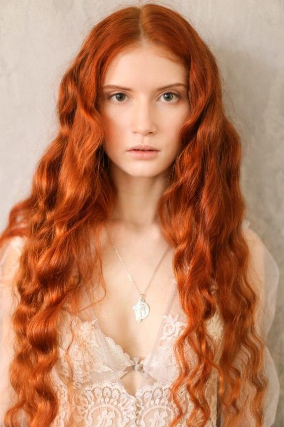 fiery copper hair color is amazing for both long and short length