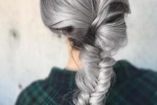 13 black and granny silver hair for a bold look