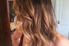 13 brown to caramel balayage hair