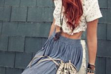 13 long curly copper hair for a hippie look