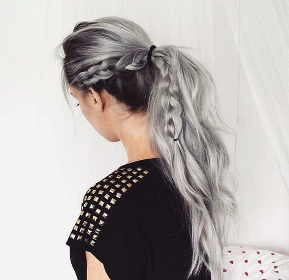 28 Trendy Grey Hair Color Ideas To Rock Styleoholic