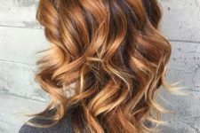 14 brown, dark and blonde caramel hair balayage