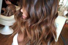14 brown hair with caramel balayage