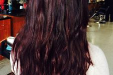 15 black hair with cherry highlights and lowlights