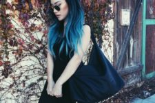 15 ombre blue hair from navy to icy blue