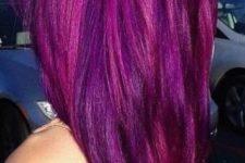 16 balayage purple magenta hair