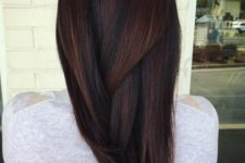 16 chocolate brown hair with highlights and low lights