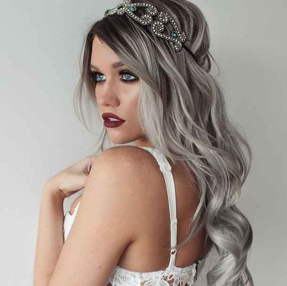black roots and grey hair