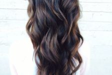 17 curly black hair with brown highlights