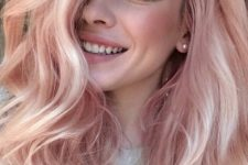 18 blond hair with pink highlights