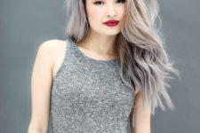 19 black roots and several shades of grey
