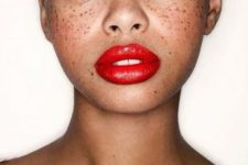 19 dark complexion looks awesome with bold red