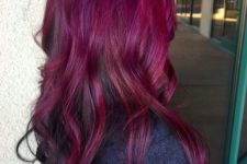 19 ombre hair with magenta to merlot colors