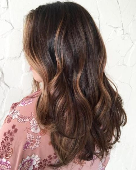Picture of dark brown hair with caramel highlights dark brown hair with caramel highlights pmusecretfo Choice Image