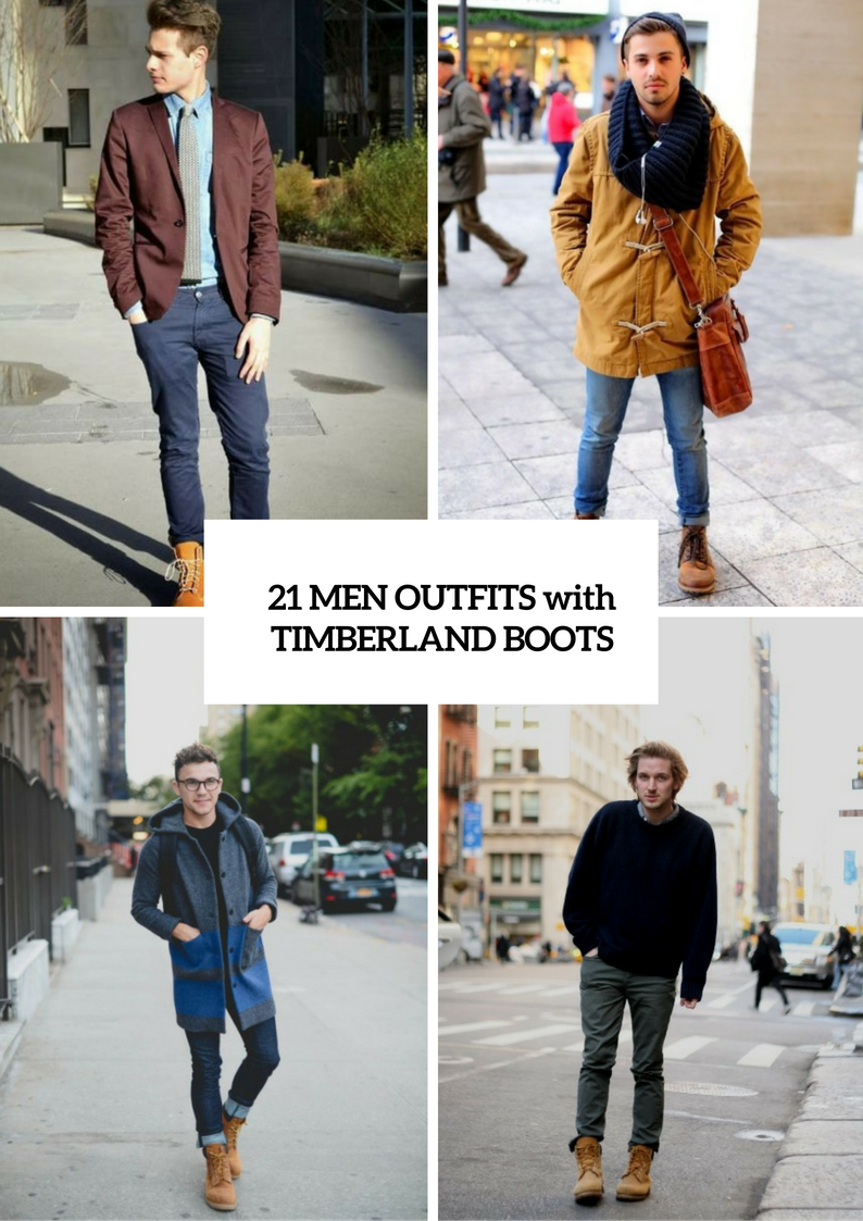 Fall And Winter Outfits With Timberland Boots For Men