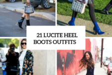 21 Lucite Heel Boots Outfits For Fall And Winter