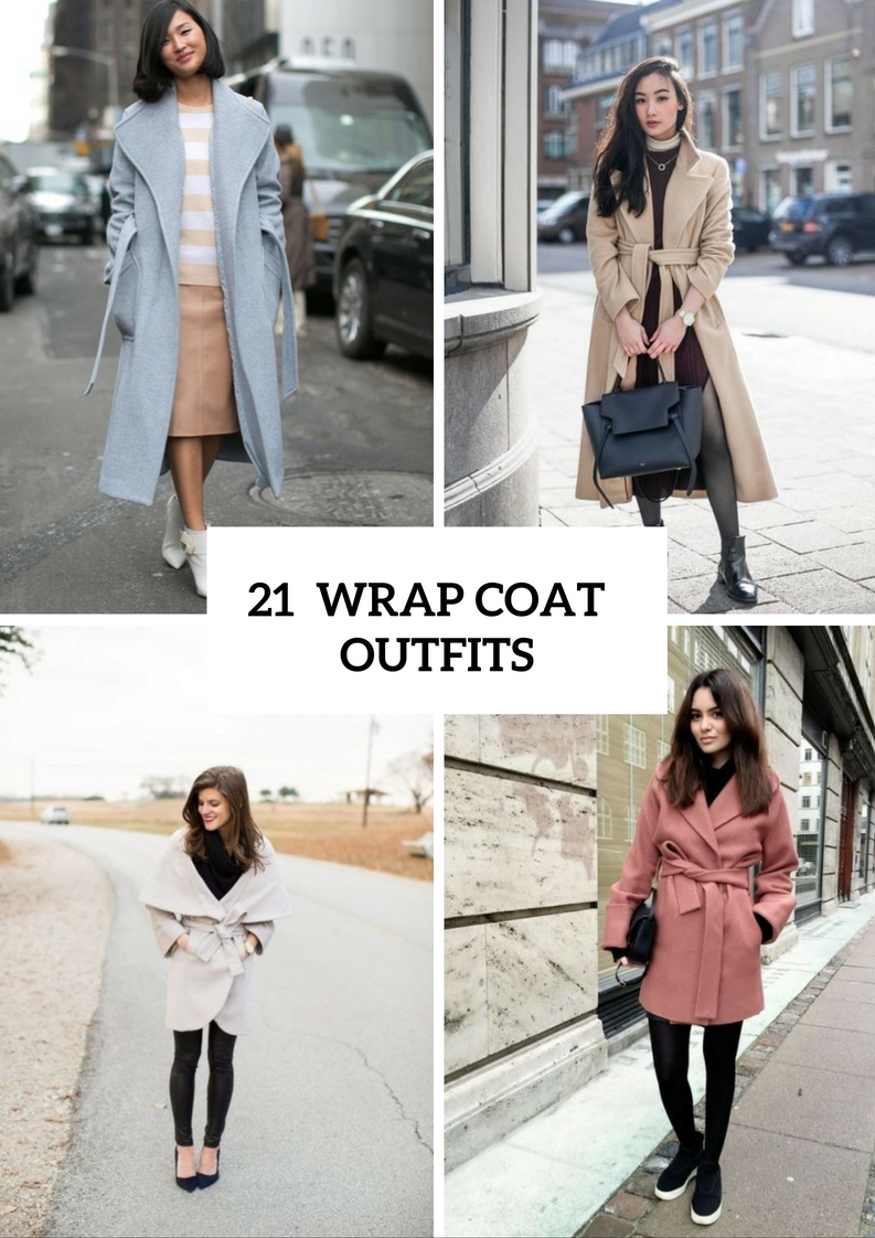 Super Cozy Wrap Coat Outfit Ideas To Try