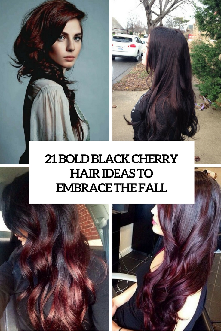 21 Bold Black Cherry Hair Ideas To Embrace The Fall