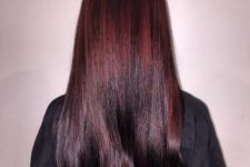 21 shiny ombre hair from mahogany to black cherry