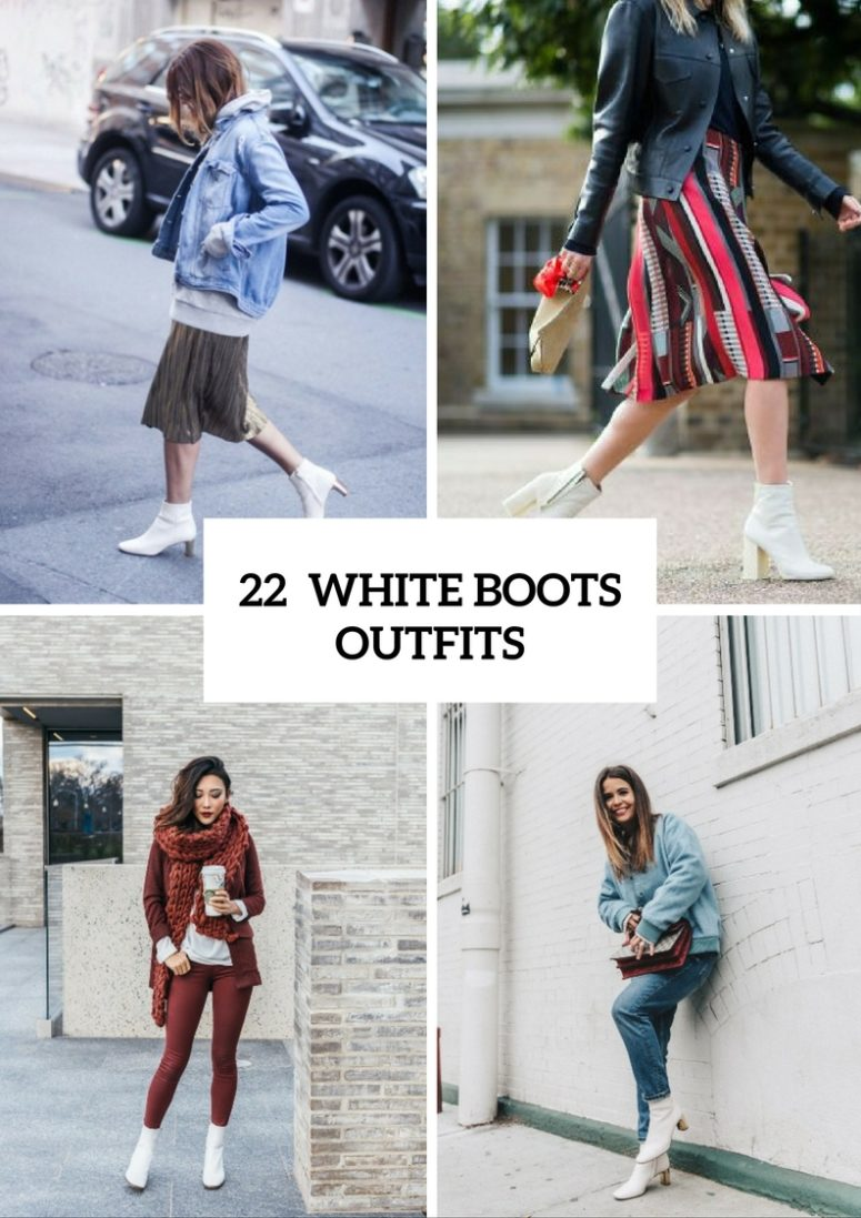 Feminine Outfit Ideas With White Boots