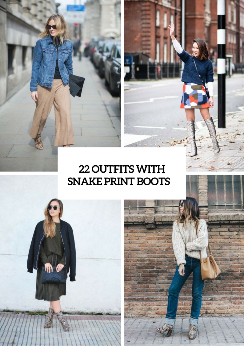 Trendy Outfits With Snake Print Boots