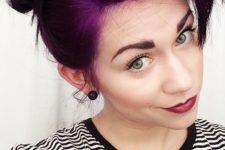 22 brownish purple hair balayage