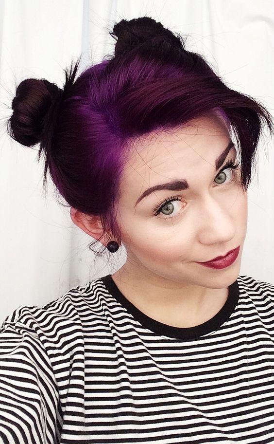 brownish purple hair balayage