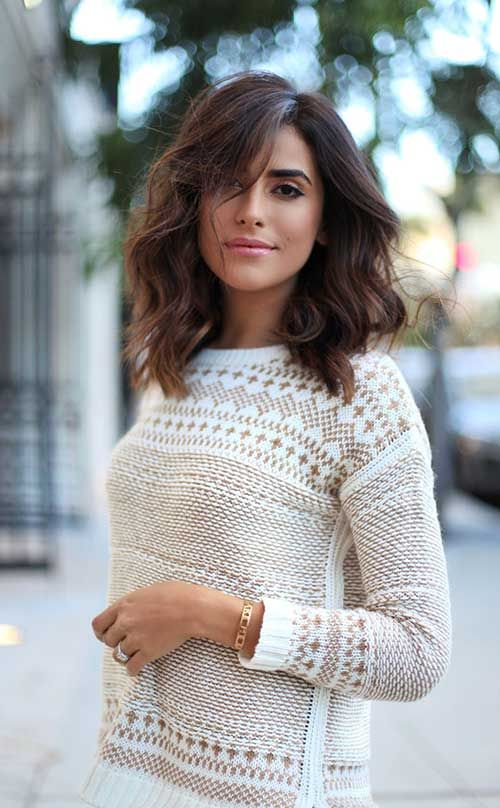 Picture Of Messy Wavy Long Bob With Highlights