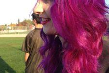 22 purple to pink balayage hair