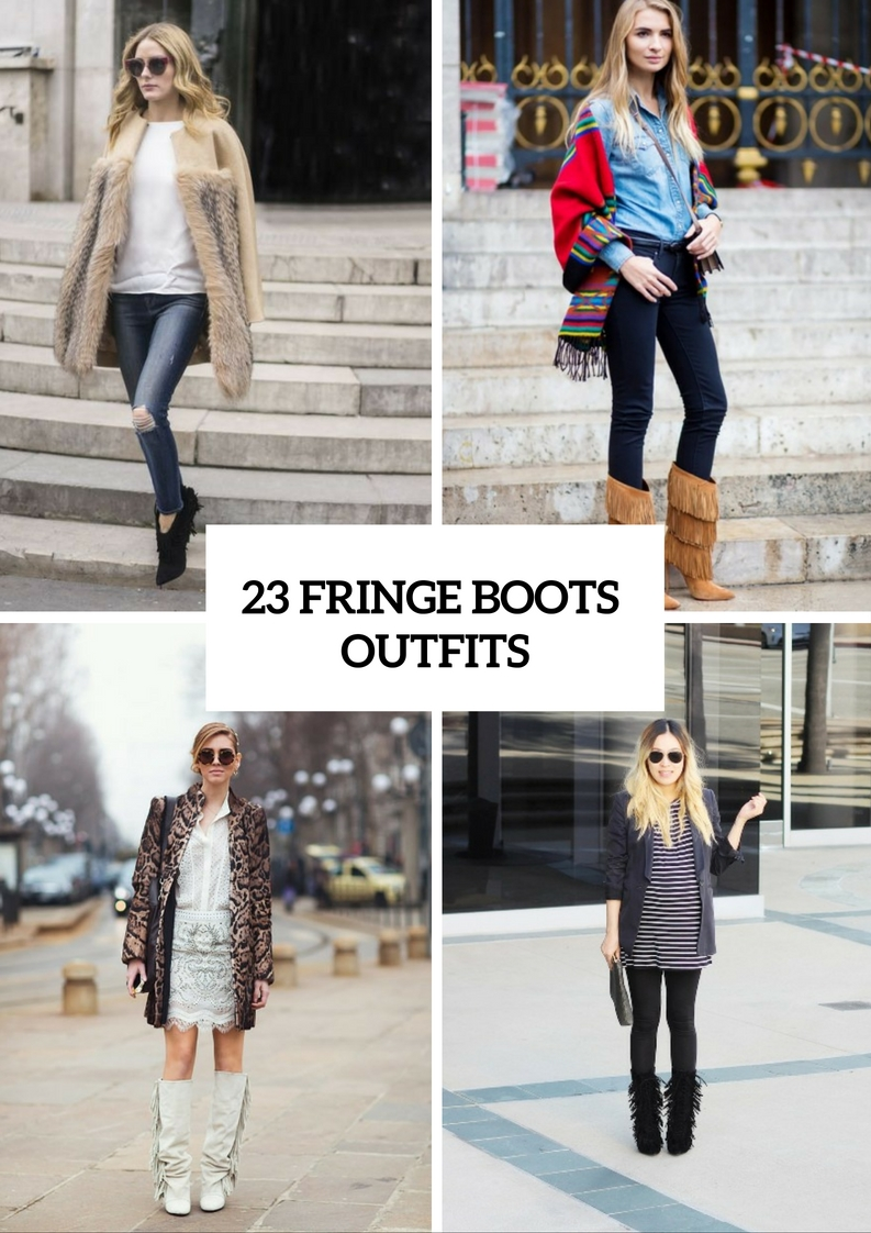 Adorable Fringe Boots Outfits For Fashionistas