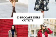 23 Chic Brocade Skirt Ideas For Fall