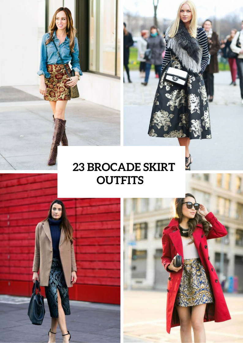Chic Brocade Skirt Ideas For Fall
