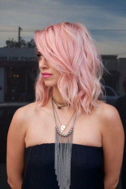 balayage pink shades hair
